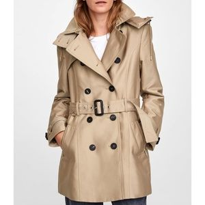 Zara Hooded Trench Coat